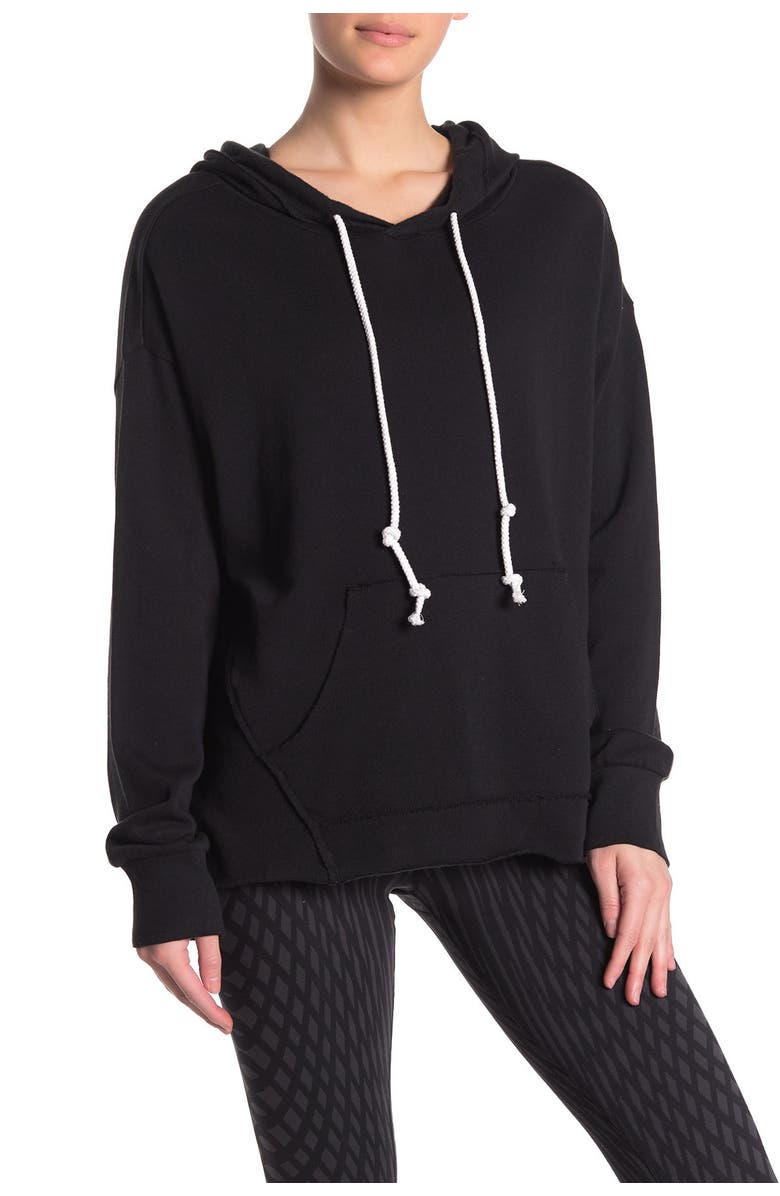 Z BY ZELLA All Together Hoodie, Main, color, BLACK