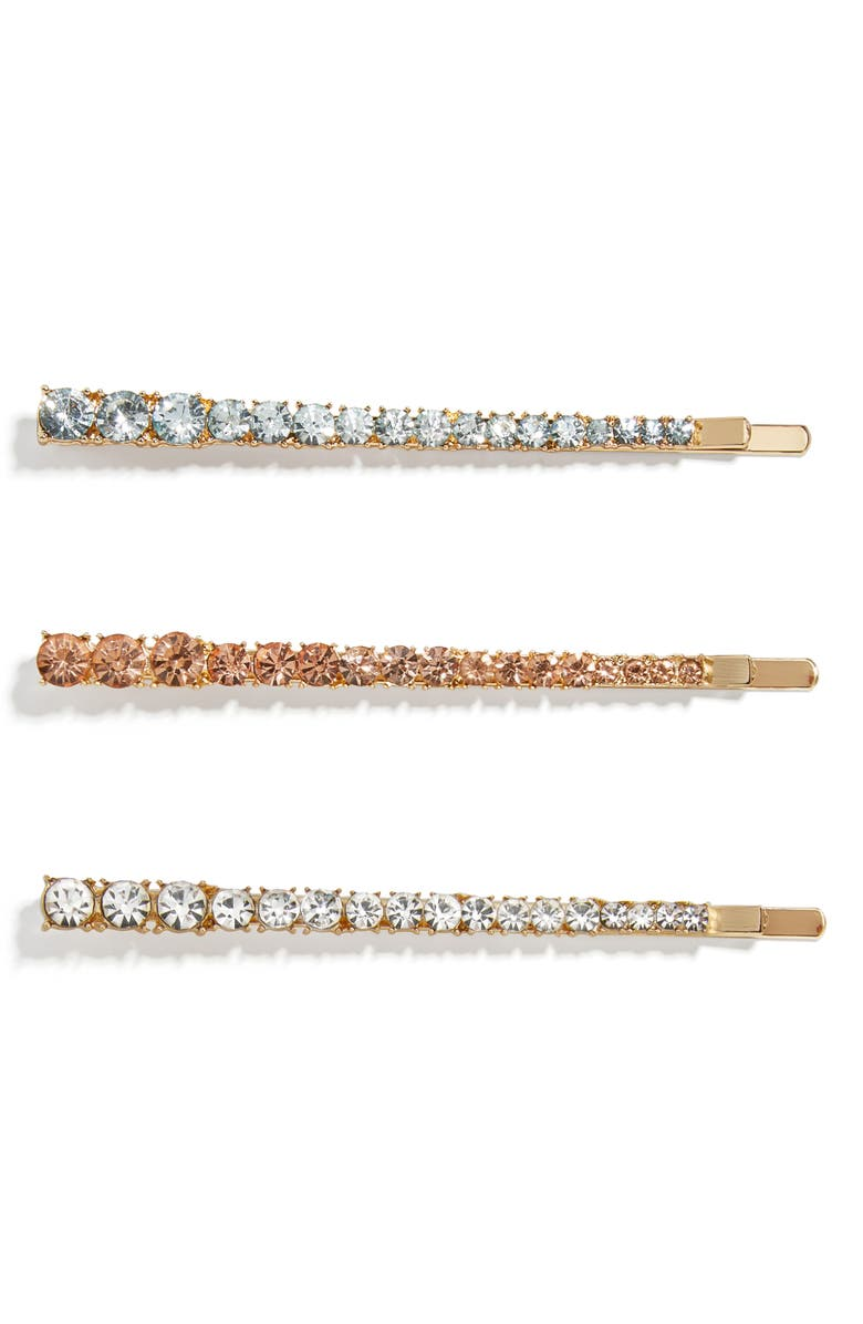 BAUBLEBAR Spectra Set of 3 Crystal Bobby Pins, Main, color, 710