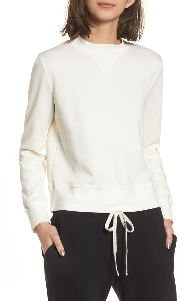 MADEWELL Offline Mock Neck Top, Main, color, BRIGHT IVORY