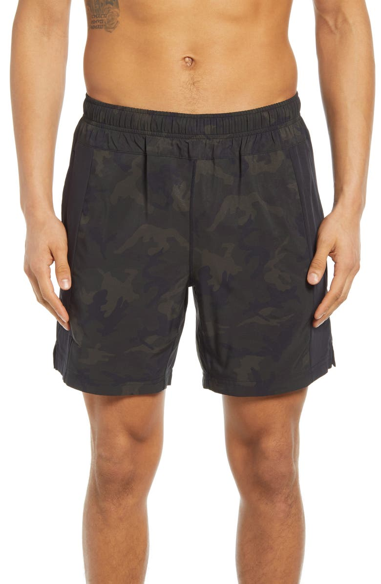 FOURLAPS Bolt 7 Inch Shorts, Main, color, CAMO