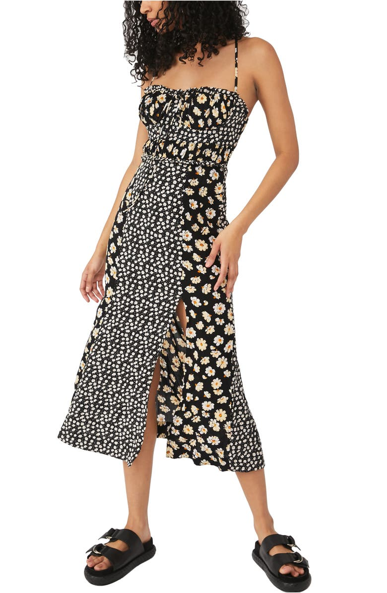 FREE PEOPLE Tigerlily Mixed Floral Midi Sundress, Main, color, 001