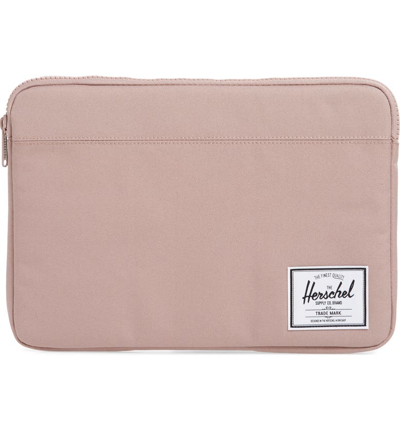 HERSCHEL SUPPLY CO. Anchor 13-Inch MacBook Sleeve, Main, color, ASH ROSE