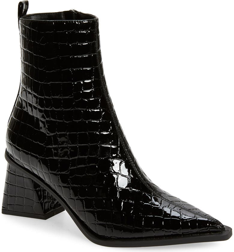 TOPSHOP Bronx Pointy Toe Bootie, Main, color, BLACK