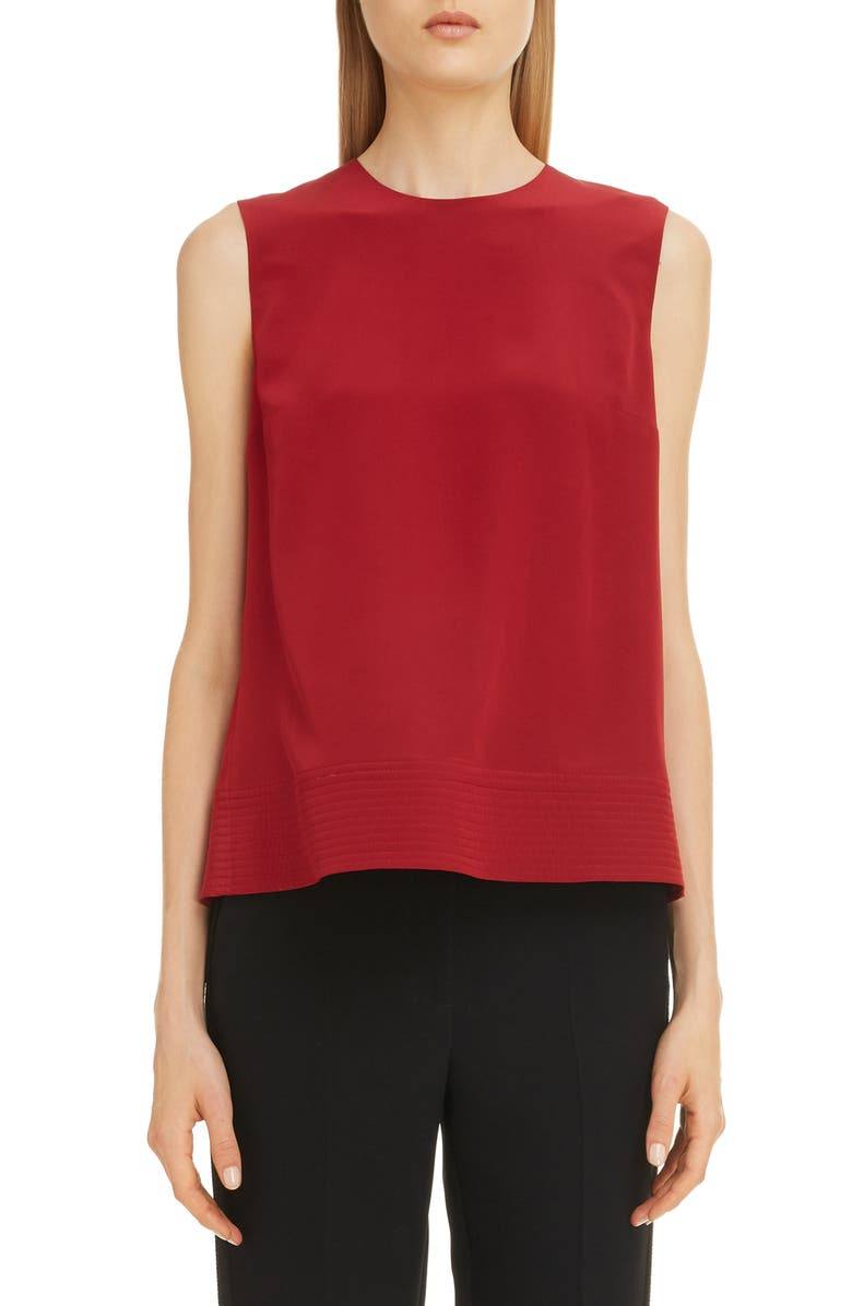 ROKSANDA Sleeveless Drape Silk Top, Main, color, 600
