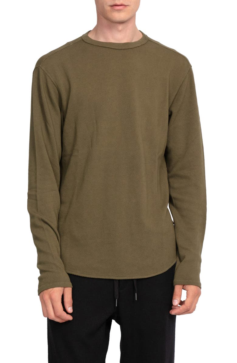 RAG & BONE Baron Crewneck Top, Main, color, ARMY GREEN