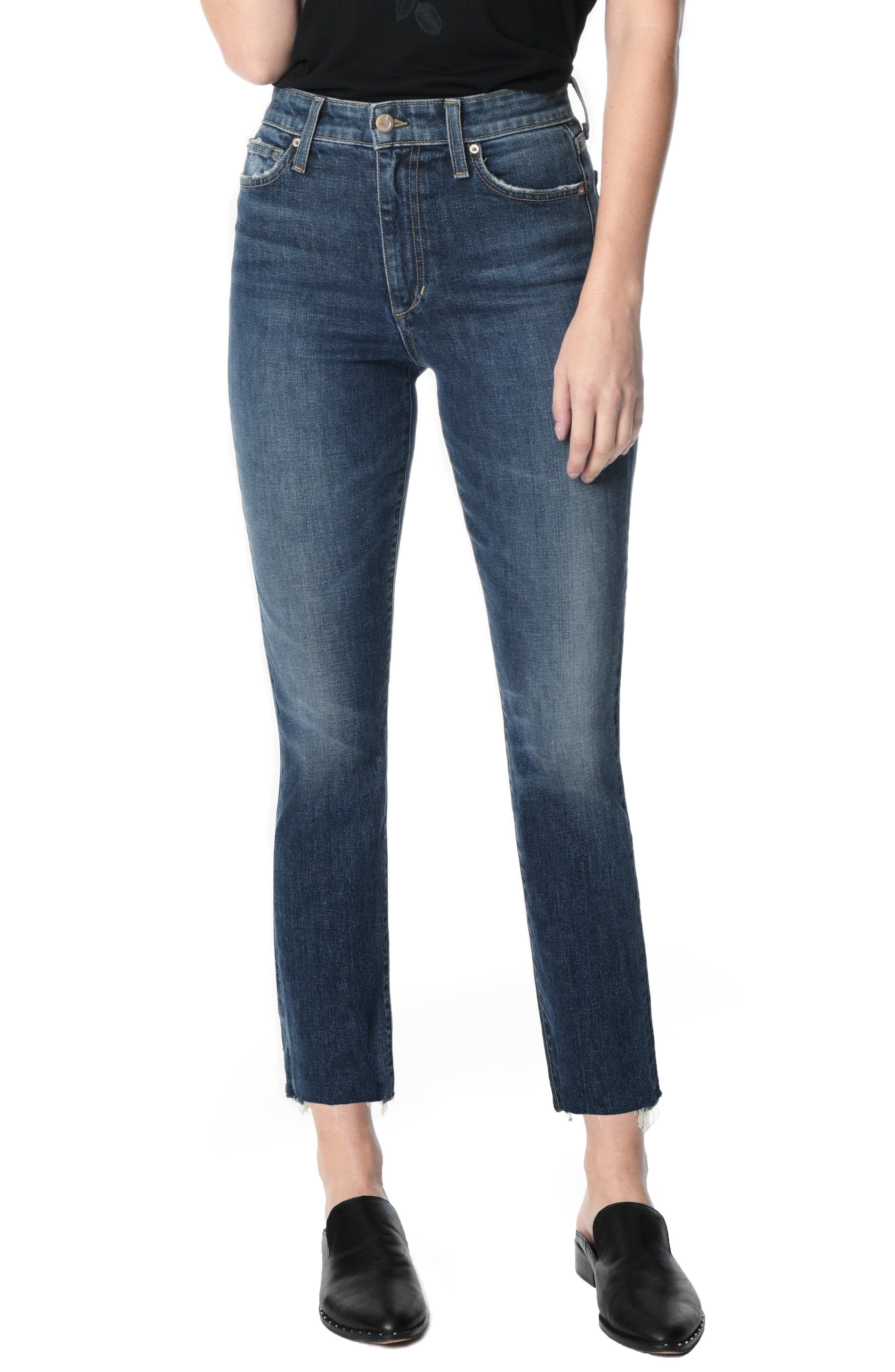 Joes Jeans Womens Milla High Rise Straight Crop Jean