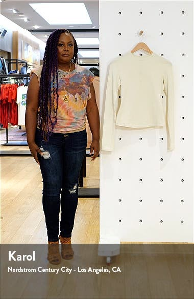 Long Sleeve Stretch Cotton Tee, sales video thumbnail