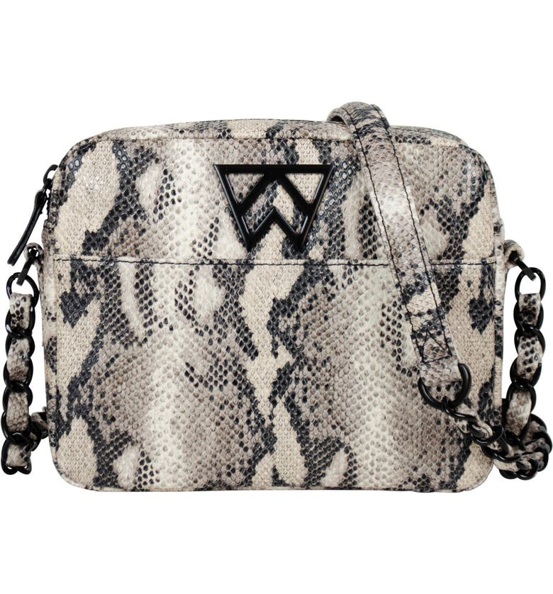 KELLY WYNNE Mingle Mingle Mini Embossed Leather Crossbody Bag, Main, color, BOSS LADY