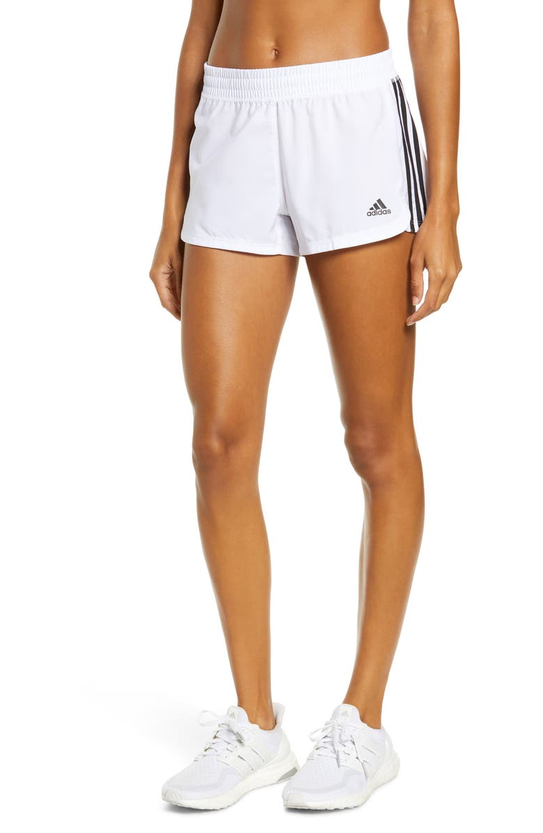 ADIDAS Pacer 3-Stripes Climalite<sup>®</sup> Knit Shorts, Main, color, 105