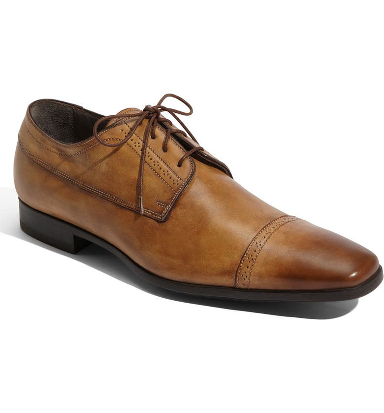 SANTONI 'Pittman-2' Cap Toe Oxford, Main, color, 200