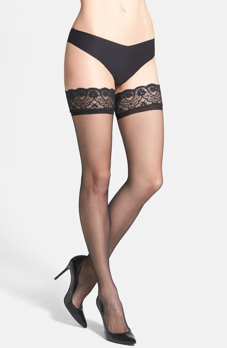 COMMANDO Up All Night Stay-Up Stockings, Main, color, 001