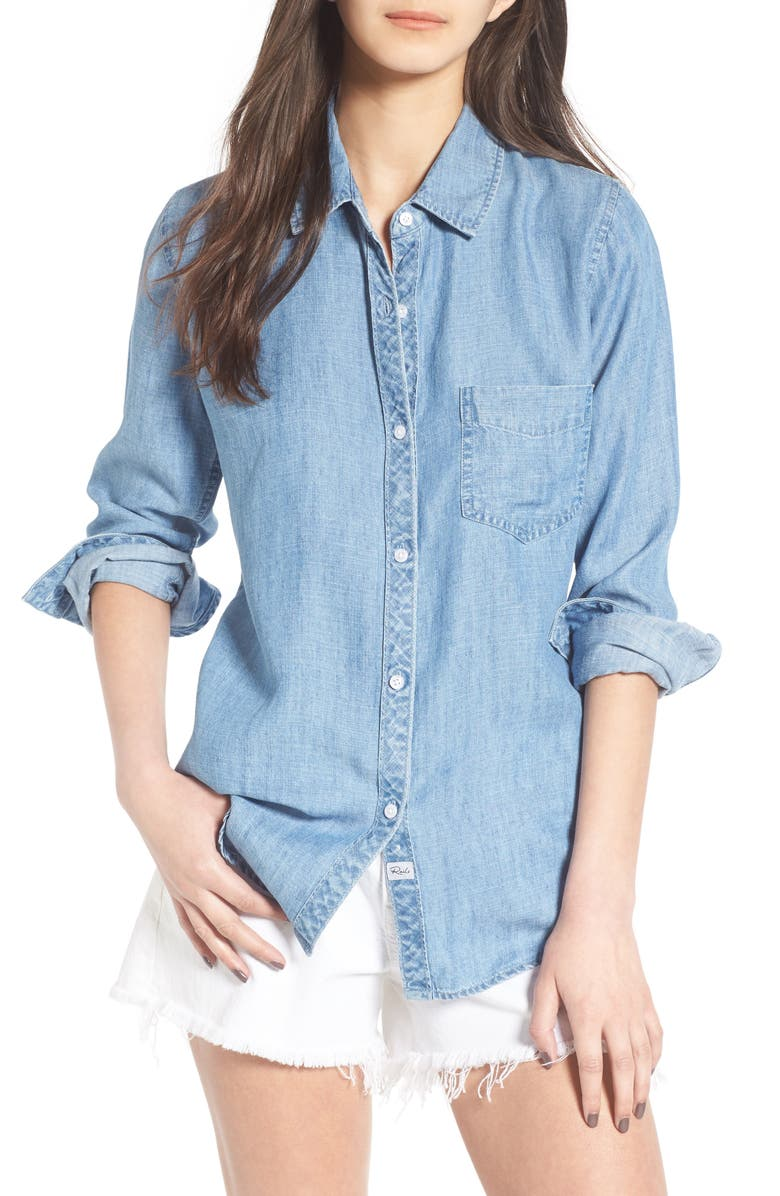 RAILS Ingrid Chambray Shirt, Main, color, 493