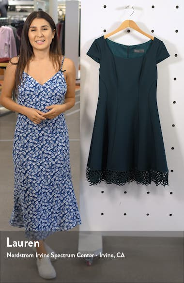 Lace Trim Fit & Flare Dress, sales video thumbnail