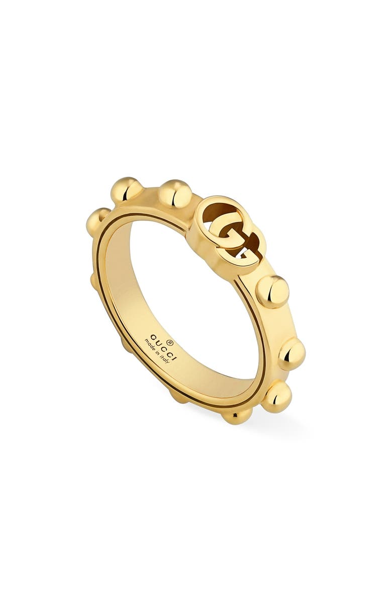 GUCCI Running GG Ring, Main, color, YELLOW GOLD
