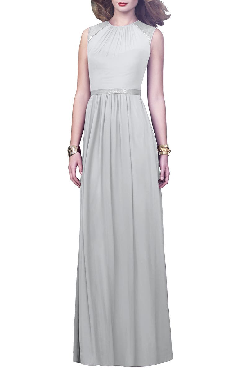 DESSY COLLECTION Embellished A-Line Gown, Main, color, 058