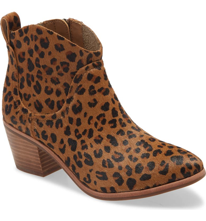 UGG<SUP>®</SUP> Kingsburg Calf Hair Bootie, Main, color, LOEPARD CALF HAIR