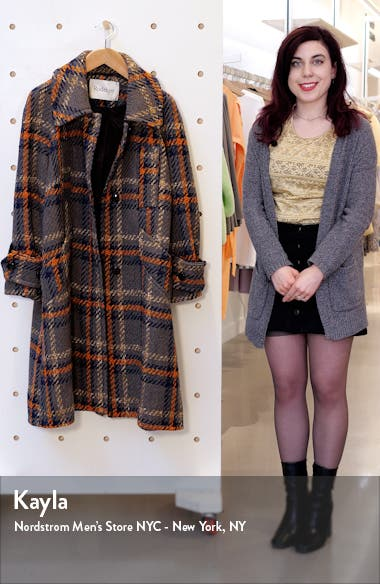 Rodbejer Lonore Plaid Wool Blend Coat, sales video thumbnail
