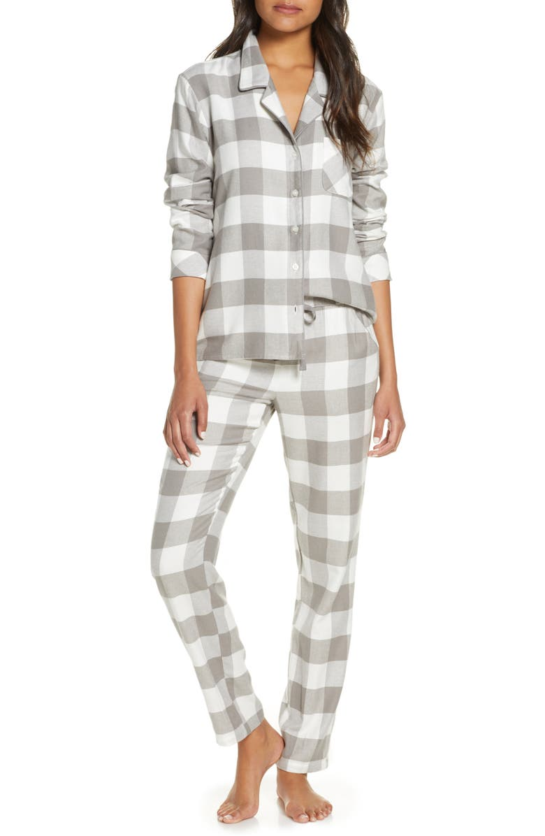 NORDSTROM Flannel Pajamas, Main, color, 050