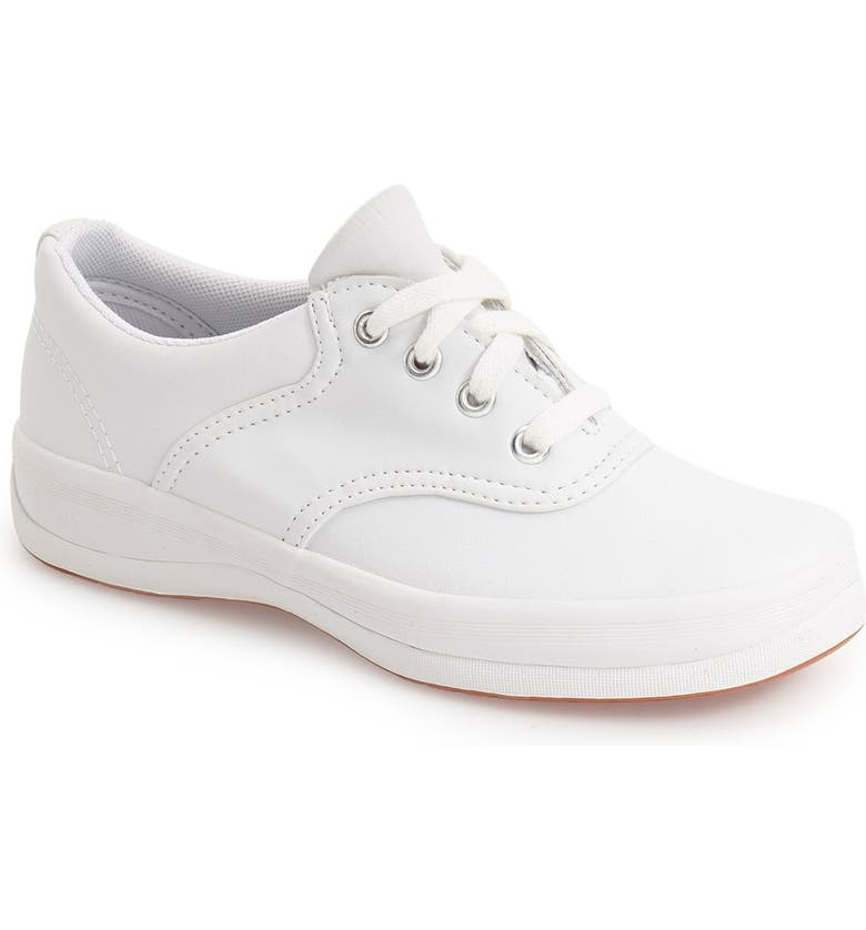 KEDS<SUP>®</SUP> 'School Days II' Oxford, Main, color, WHITE LEATHER