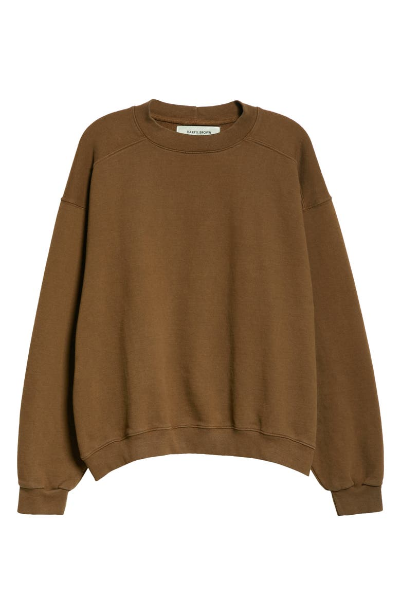 DARRYL BROWN Crewneck Sweatshirt, Main, color, COYOTE BROWN