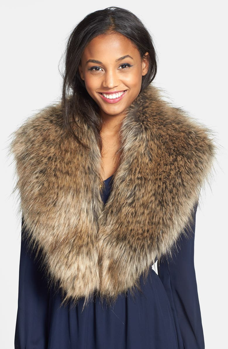 BP. Oversized Faux Fur Collar, Main, color, 250