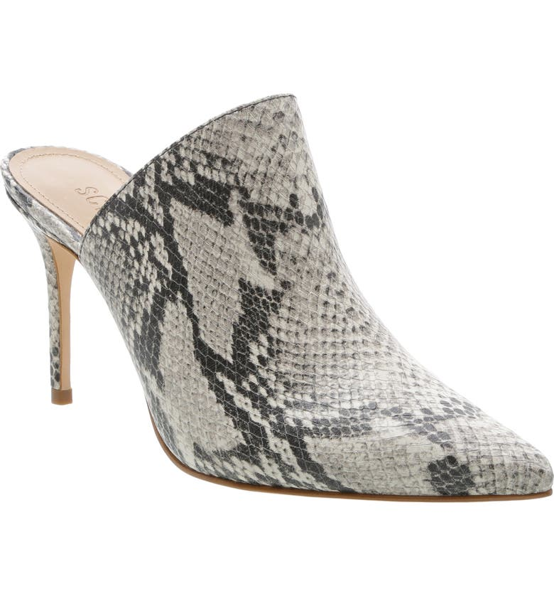 SCHUTZ Bardot Pointed Toe Mule, Main, color, NATURAL LEATHER