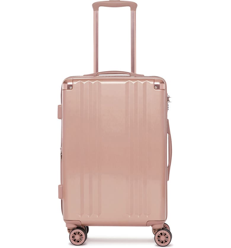 CALPAK Ambeur 22-Inch Rolling Spinner Carry-On, Main, color, ROSE GOLD