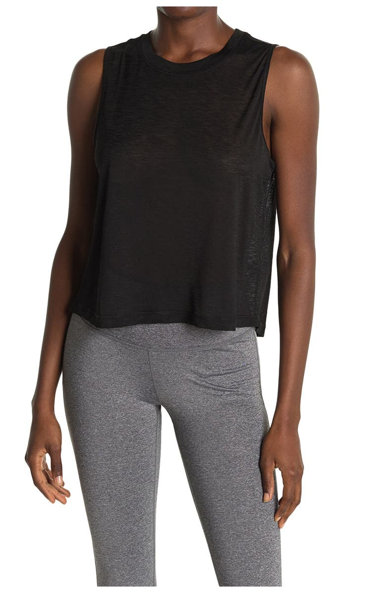 90 DEGREE BY REFLEX High/Low Muscle Tank, Main, color, BLACK