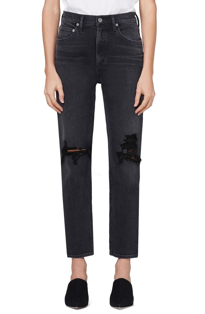 AGOLDE Wilder Ripped Ankle Straight Leg Jeans, Main, color, OUTSKIRTS