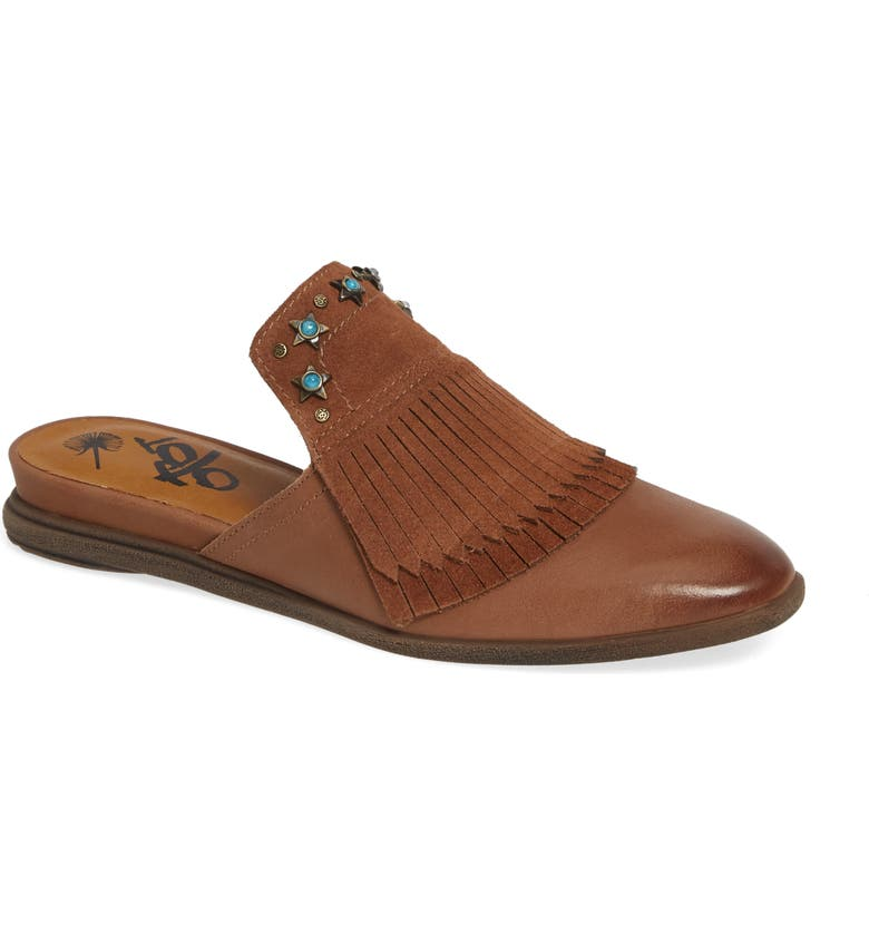 OTBT Gleam Mule, Main, color, BROWN LEATHER/ SUEDE