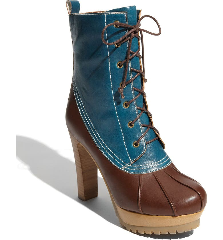 JEFFREY CAMPBELL 'Spokane' Boot, Main, color, BROWN/  BLUE LEATHER