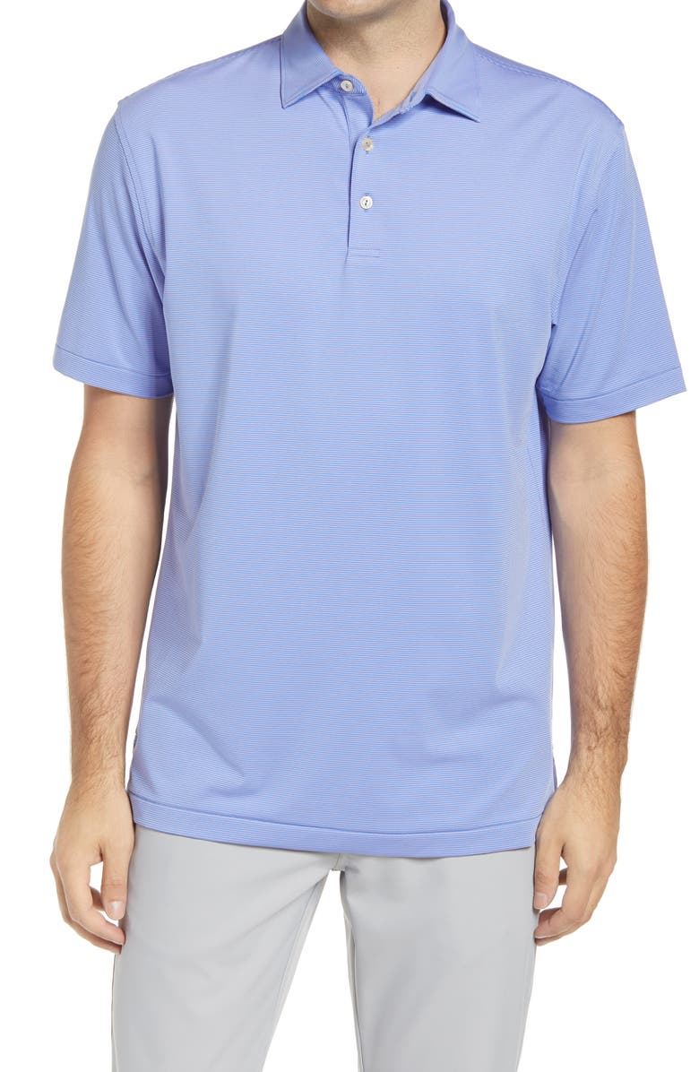 PETER MILLAR Jubilee Stripe Short Sleeve Performance Polo, Main, color, 403