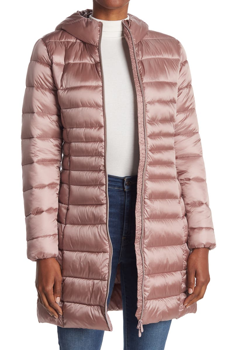 SAVE THE DUCK Iris Water Resistant Hooded Coat, Main, color, 91 MISTY ROSE