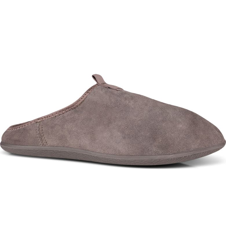 ECCO Easy House Shoe Geniune Shearling Lined Slipper, Main, color, GRAVITY LEATHER