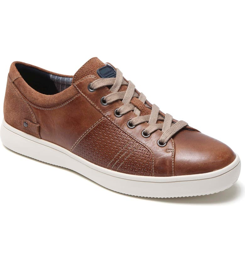 ROCKPORT Colle Textured Sneaker, Main, color, TAN LEATHER