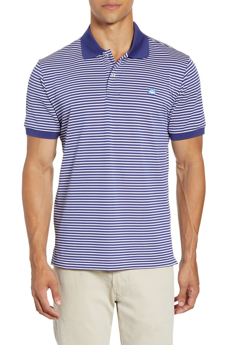 SOUTHERN TIDE Classic Fit Stripe Performance Polo, Main, color, 417