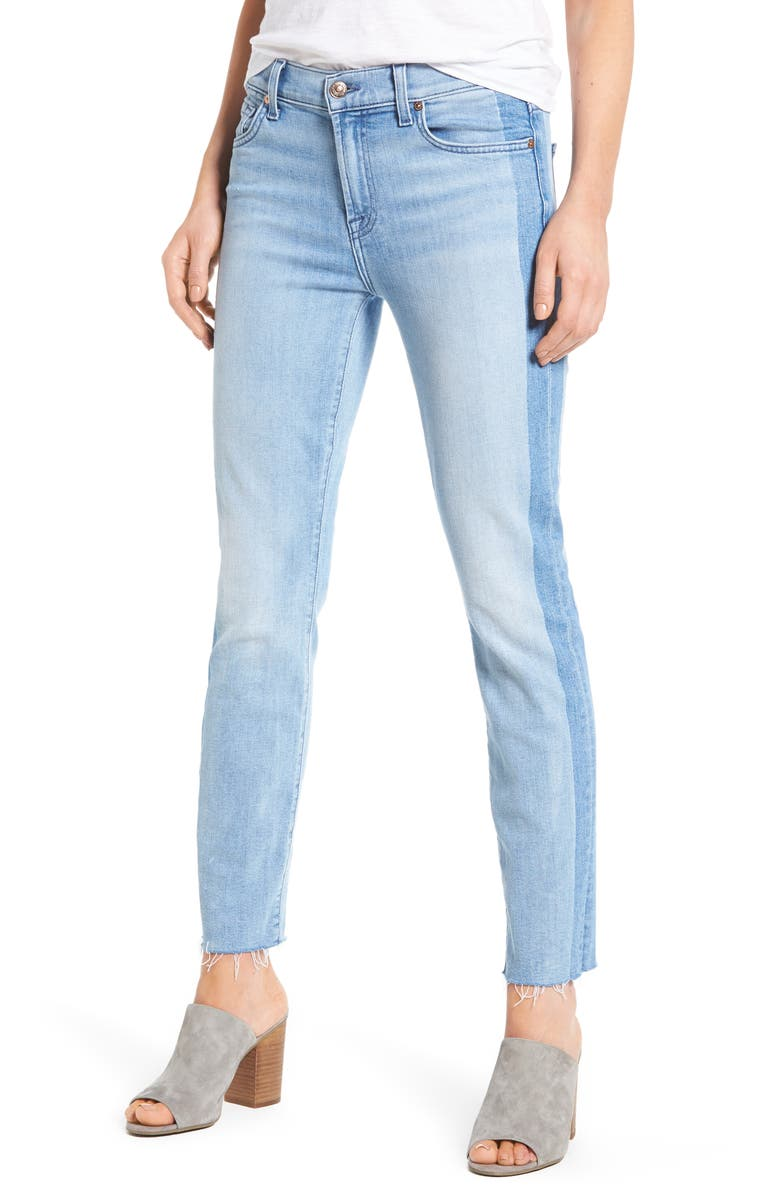 7 FOR ALL MANKIND<SUP>®</SUP> Roxanne Original Ankle Skinny Jeans, Main, color, BRIGHT CHELSEA