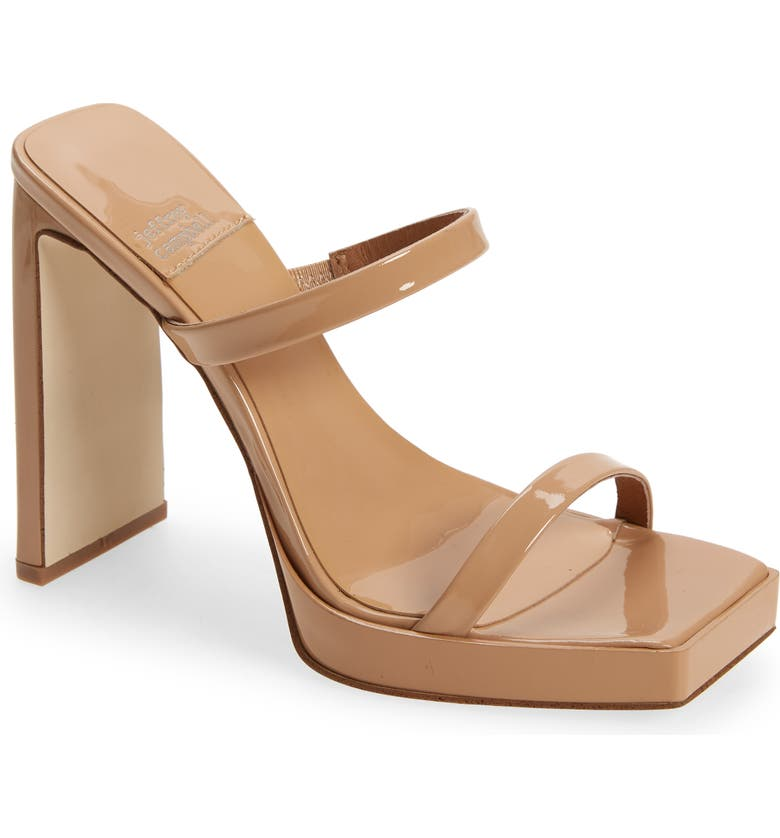 JEFFREY CAMPBELL Hustler Platform Sandal, Main, color, DUSTY NUDE PATENT