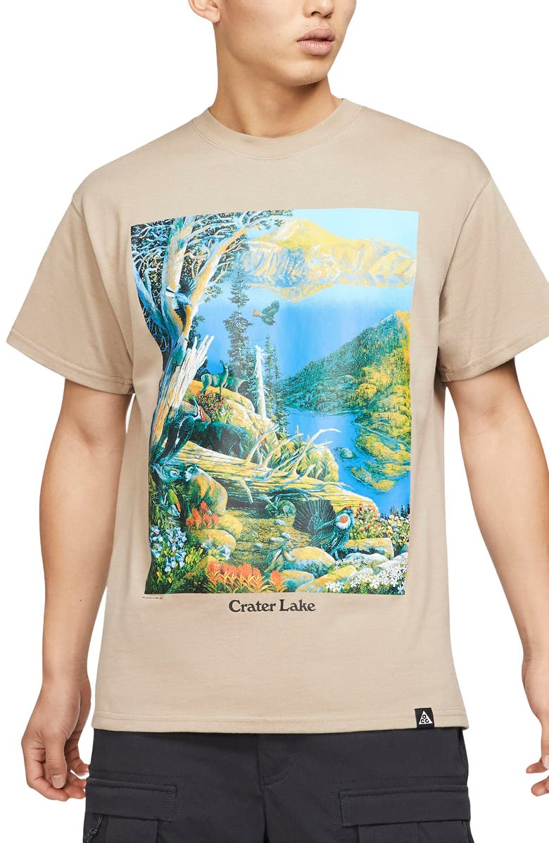 NIKE ACG Crater Lake Graphic Tee, Main, color, 250