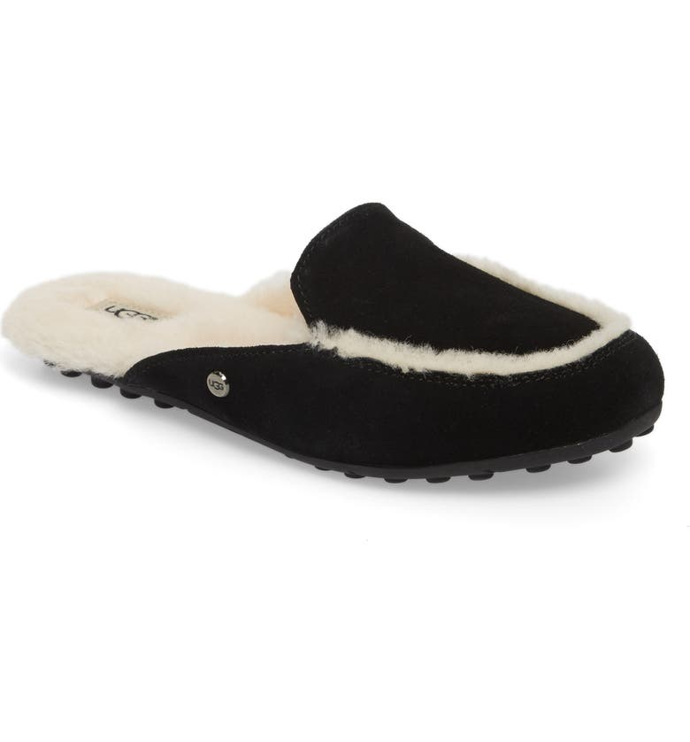 UGG<SUP>®</SUP> Lane Genuine Shearling Slipper, Main, color, 001