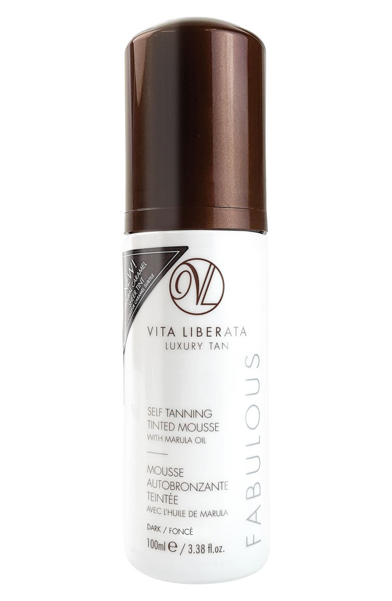 VITA LIBERATA Fabulous Self Tanning Tinted Mousse, Main, color, DARK