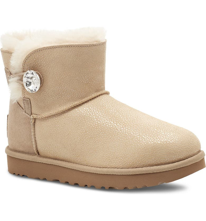 UGG Bling Sting Genuine Shearling Lined Boot, Main, color, TAN