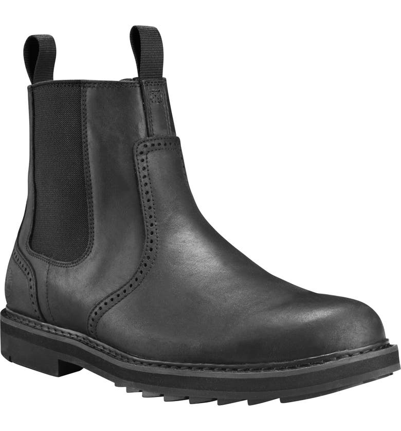 TIMBERLAND Squall Canyon Waterproof Chelsea Boot, Main, color, 001