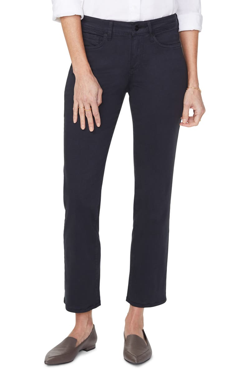 NYDJ Marilyn High Waist Ankle Jeans, Main, color, BLACK