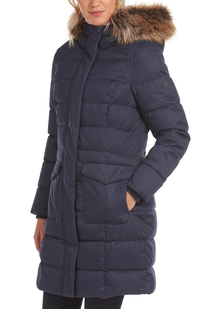 BARBOUR Guanay Quilted Parka, Main, color, DK NAVY