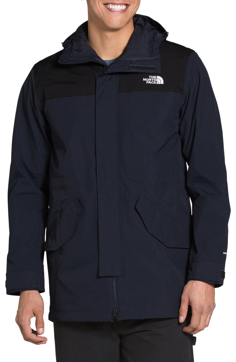 THE NORTH FACE City Breeze Water Repellent Hooded Rain Parka, Main, color, AVIATOR NAVY/ TNF BLACK