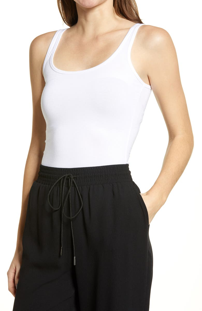 HALOGEN<SUP>®</SUP> Scoop Neck Tank Top, Main, color, White