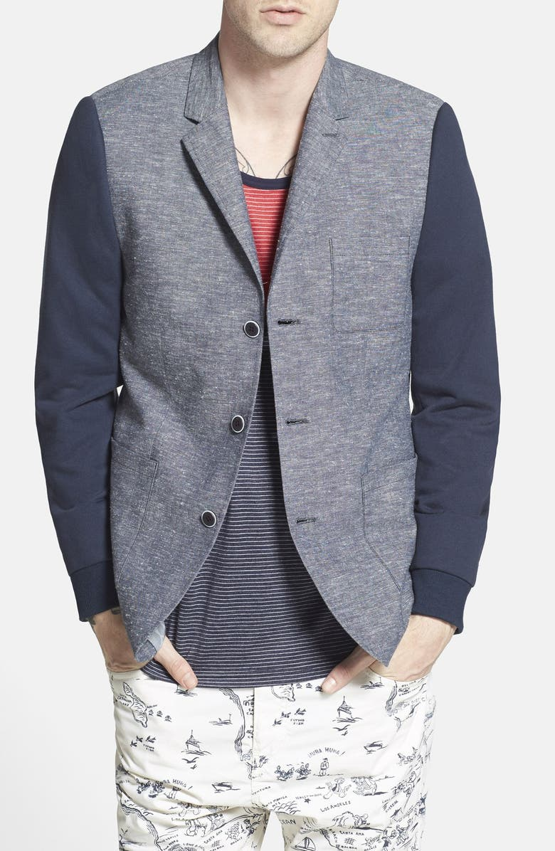 HOWE 'Top Down' Two Tone Blazer, Main, color, 419