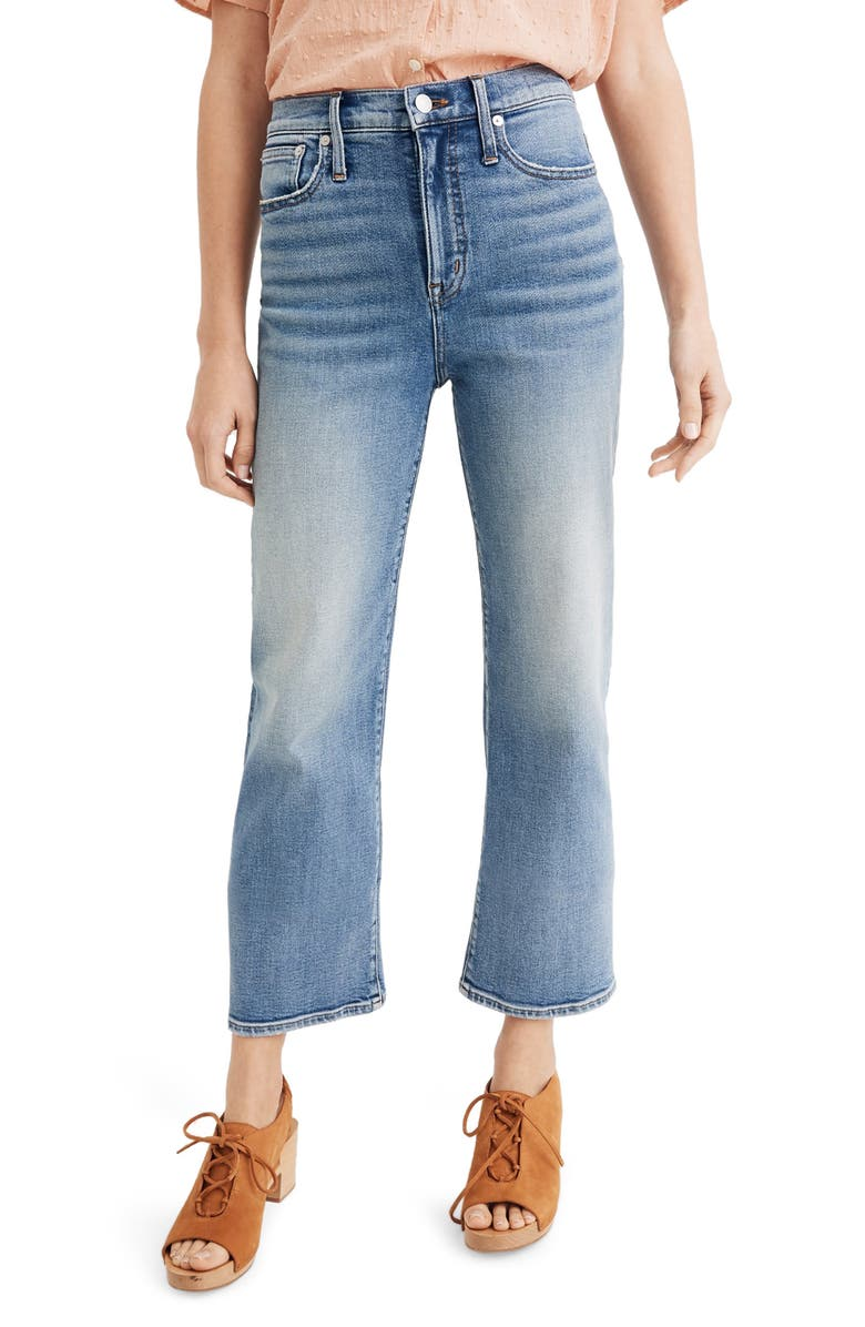 MADEWELL Slim Wide Leg Crop Jeans, Main, color, 400