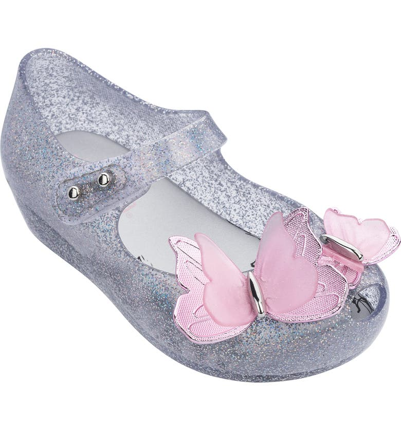 MINI MELISSA Ultragirl Butterfly Mary Jane Flat, Main, color, 040